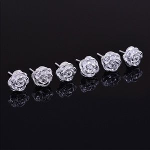 Jewelry - Sterling Silver Rose Earrings